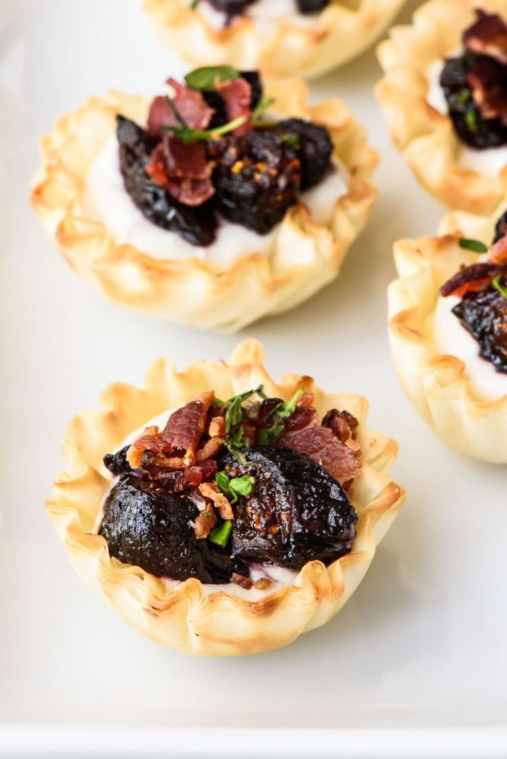 ... mini fig goat cheese bacon phyllo bites mini fig goat cheese bacon