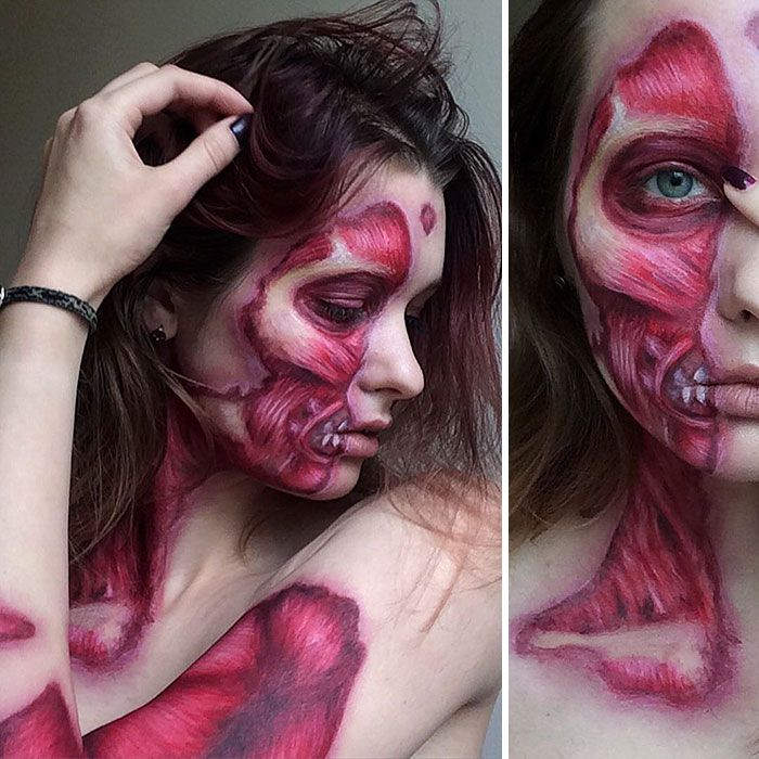 skinless halloween makeup this artist definitely has some skill - Halloween Effects Makeup