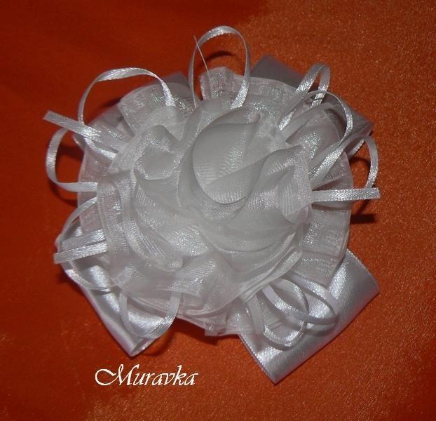 Пышные белые банты - Ярмарка Мастеров - ручная работа, handmade