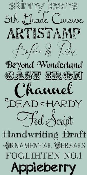 Free Fonts make me happy