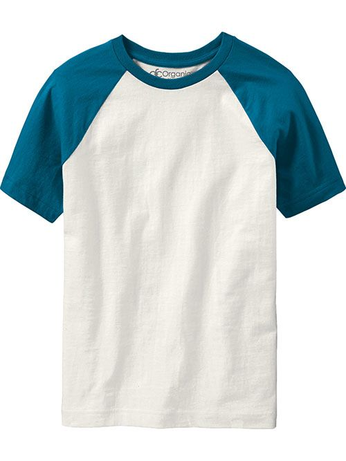 Raglan Tees  Color-Block Boys, 100% organic cotton