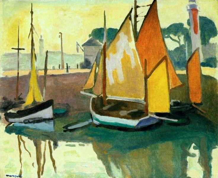 The Port of La Rochelle, Low Tide Albert Marquet - 1920