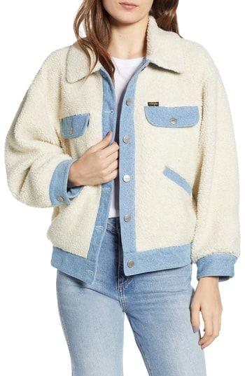 e9fc77f06ed New Wrangler Fleece Denim Jacket women s coats Jacket online.   148  from  top store allfashiondress