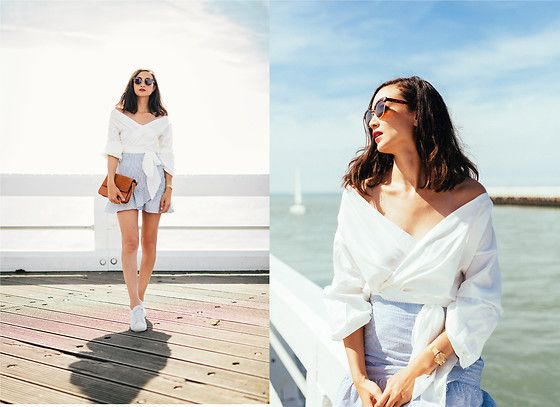 Get this look: http://lb.nu/look/8792375  More looks by Linh Minouderie: http://lb.nu/minouderie  Items in this look:  Nelly Blouse, Mango Skirt, Lacoste Shoes, Zaful Bag, Mango Sunglasses   #nelly #mango #festina #lacoste