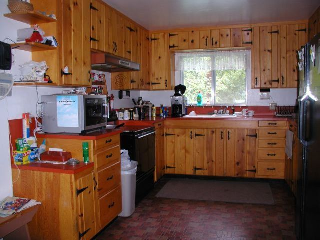 37 best images about cabin ideas on pinterest cabinets tongue and groove and pine - Knotty pine cabinets makeover ...