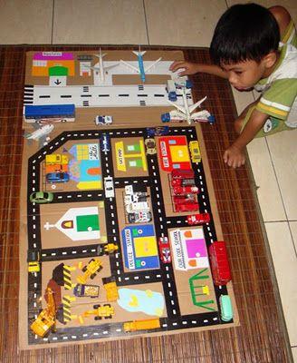 The 1 Mom Homemade Toy Car And Airport Play Mat Dari