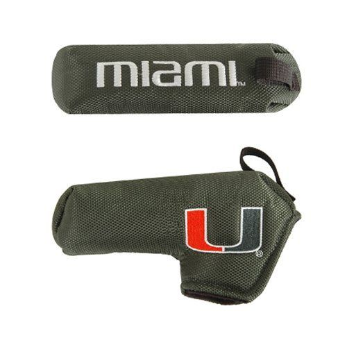 NCAA Miami Shaft Gripper Blade Golf Putter Cover by Team Effort Inc. $13.99. Putter cover made of durable nylon, with foam padding and fleece lining.. Embroidered with collegiate trademarks.. The patented Shaft Gripper easily releases to allow quick single-handed removal from your putter.