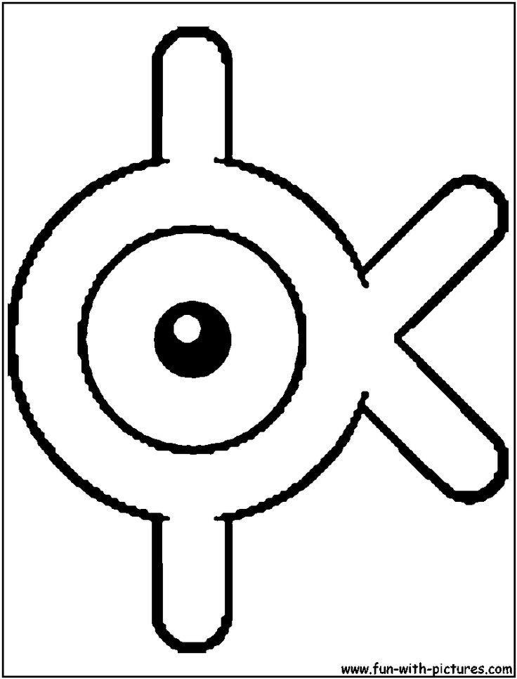 Pokemon Unown Alphabet K