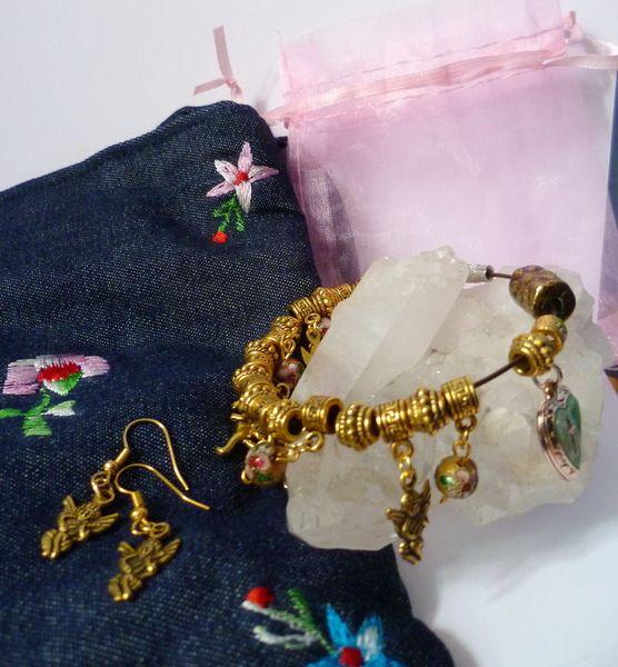 """♥Bettelarmband Adventskalender """"Engel gold""""♥ von Froschkönigsgarten auf DaWanda.com"""