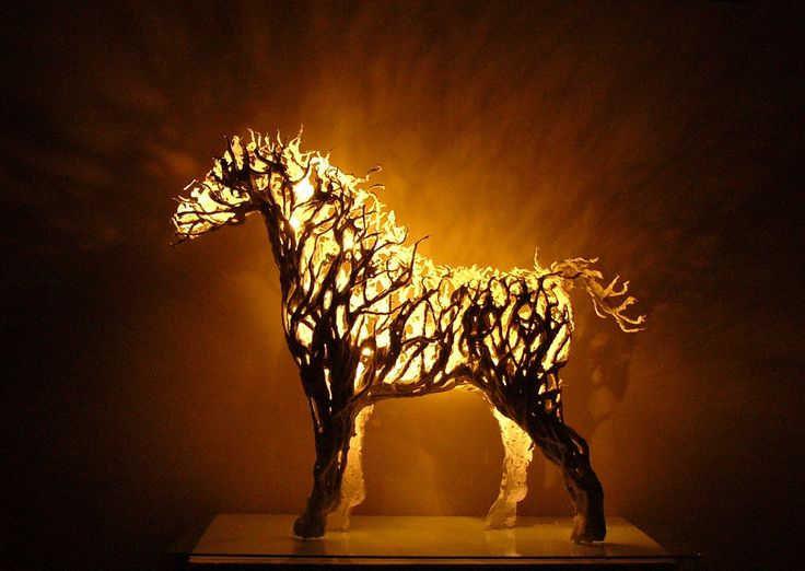 A lamp - horse by Kamila Karst sculpture 2013 facebook Kama Karst