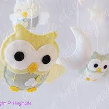 DIY owl mobile