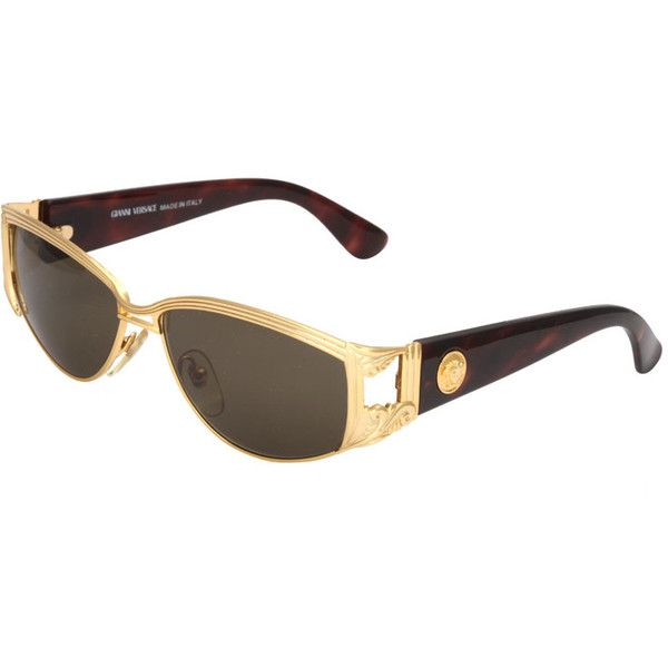 GIANNI VERSACE SUNGLASSES MOD S 62 COL 030 ($700) ❤ liked on Polyvore featuring vintage sunglasses, versace, vintage glasses, mod sunglasses and versace sunglasses