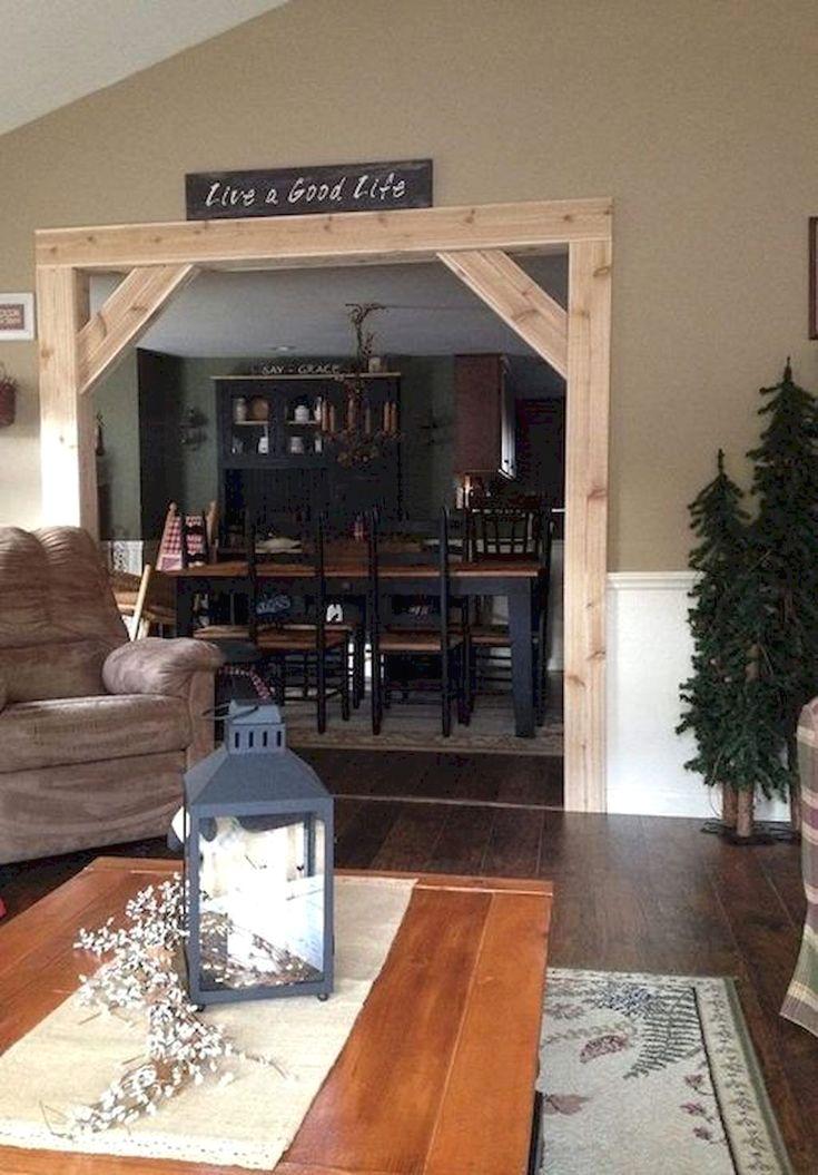 Wood Frame Around Arch Farmhouse Decor Living Room Rustic
