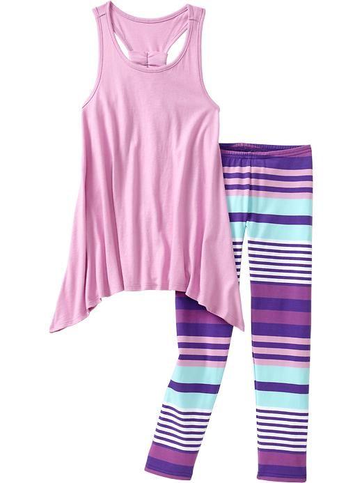 Old Navy | Girls Jersey Tank & Legging Sets 19.95 plus sizes, L, XL, XXL Sophia loves this