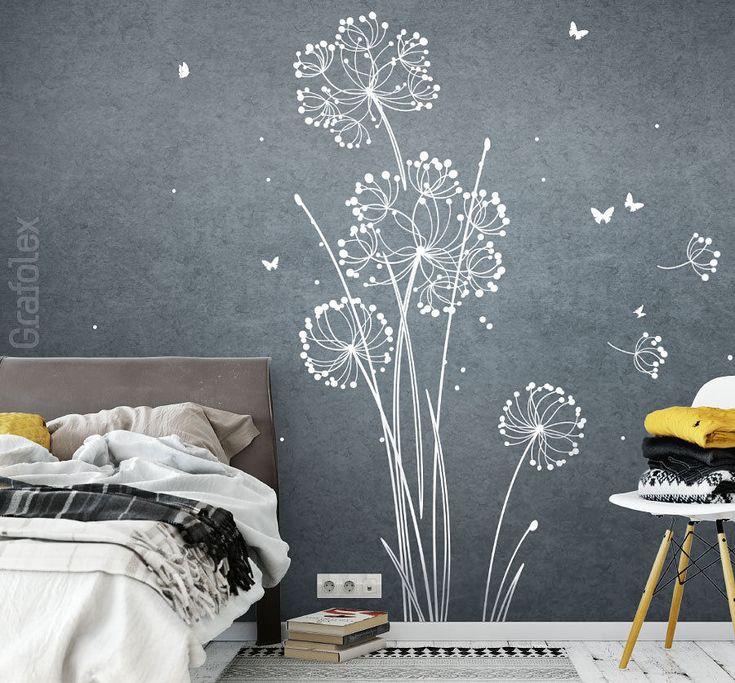 Details Zu Wandtattoo Pusteblume Blume Wandaufkleber Wandsticker Wanddeko Aufkleber W318c
