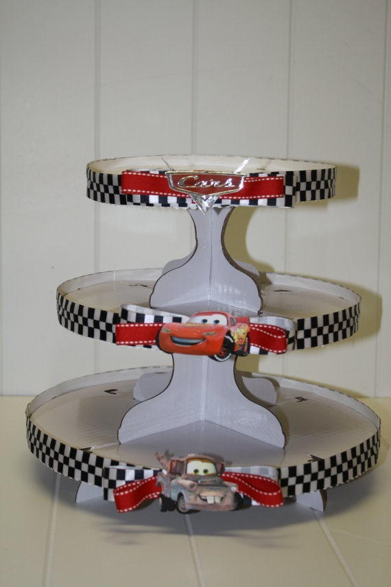 Cars 2 Cupcake Tower Idea