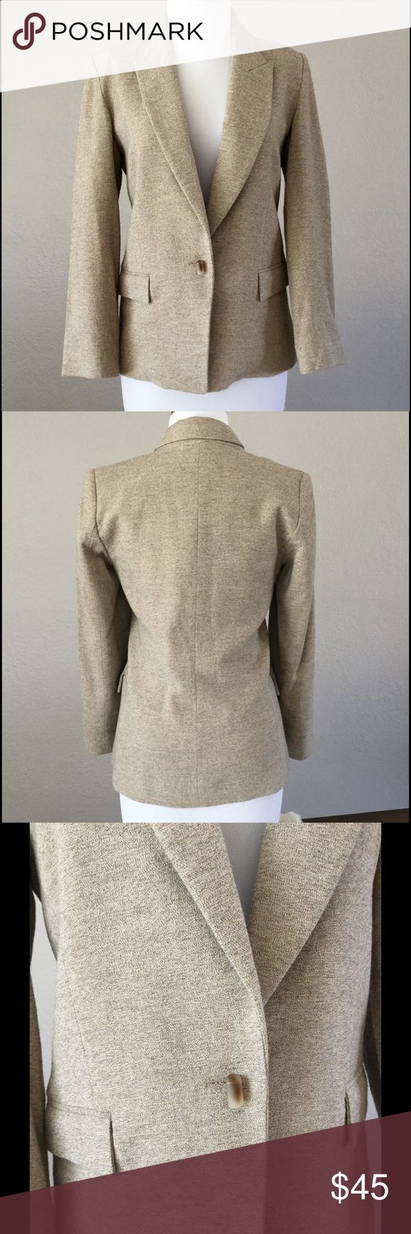 french tan blazer worn only once no stains or rips this is a french