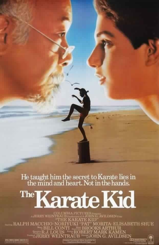 The Karate Kid (1984), Ralph Macchio.  Wipe on, wipe of,f Daniel son. We all loved Ralph!