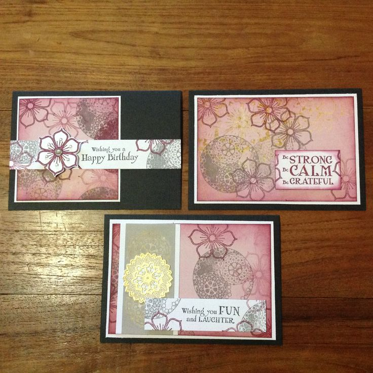 Cards I designed using Kaszazz's new Mandala Collection