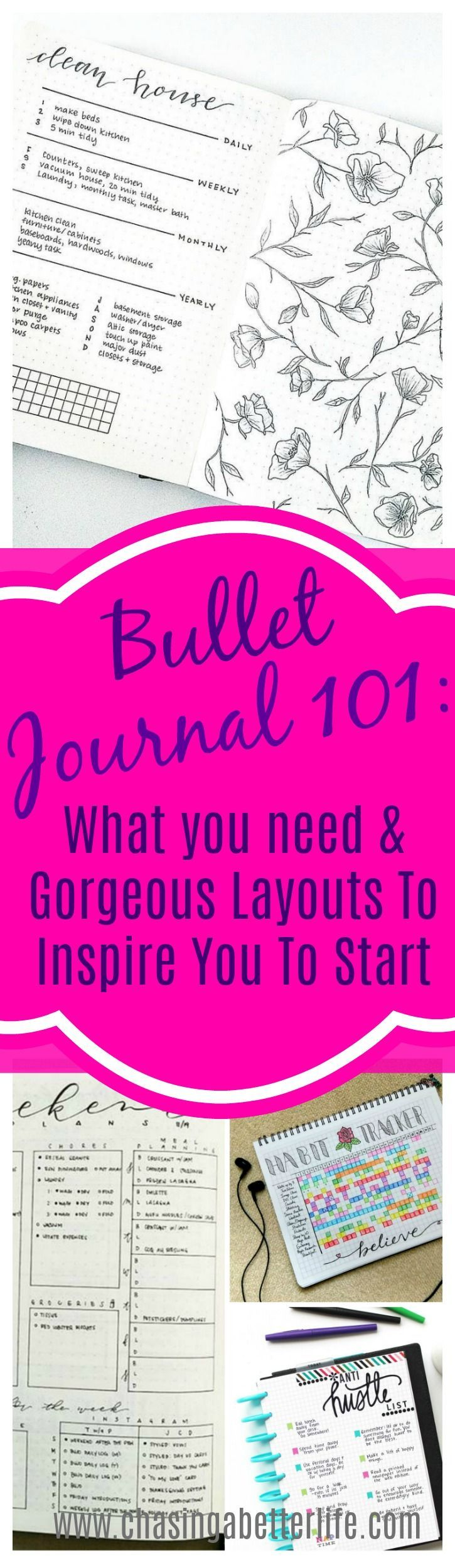 Bullet Journal 101: What you need & Gorgeous Layouts To Inspire You To Start