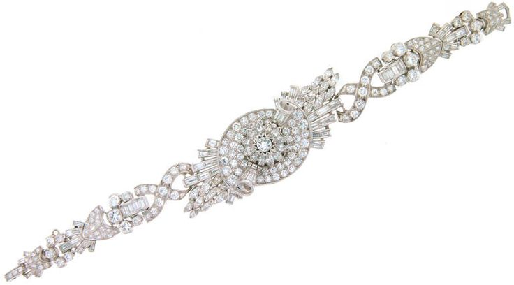 Paul Buhre Lady's Platinum and Diamond Concealed-Dial Bracelet Watch circa 1930s | From a unique collection of vintage wrist watches at https://www.1stdibs.com/jewelry/watches/wrist-watches/ #PaulBuhre #Lady's #Platinum and #Diamond #Concealed-Dial #Bracelet #Watch circa #1930s