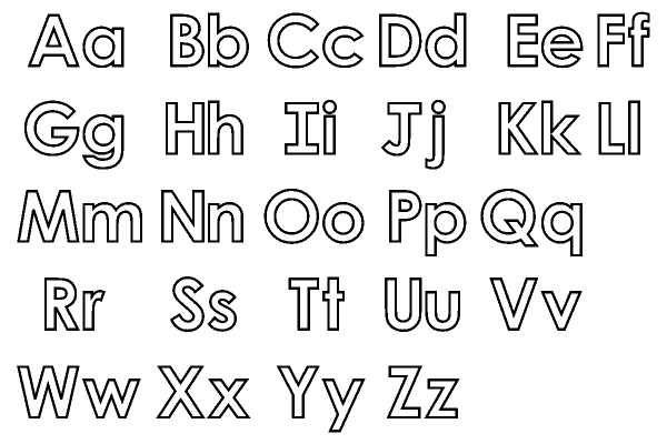 Alphabet Coloring Page Big And Small Letters Free Harfler Yazitipleri Alfabe