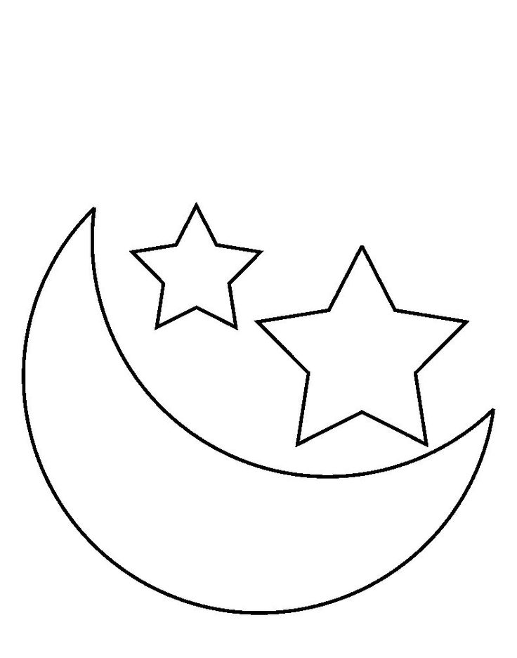 Shapes Crescent And Star