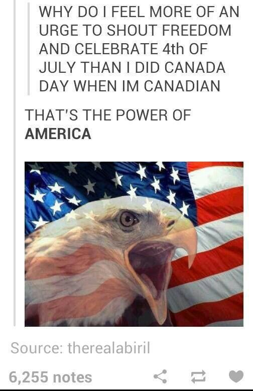 Actually, this has happened to me once. I was about to ask why we weren't celebrating the Fourth of July, I'm Canadian.