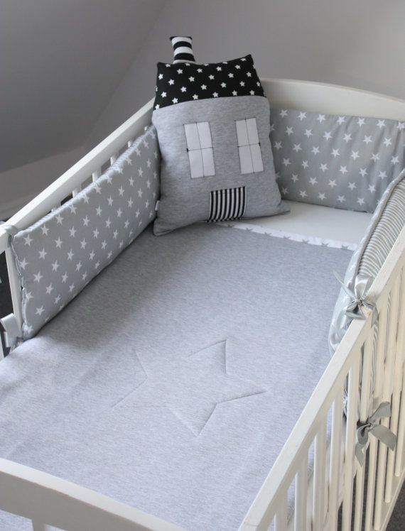 *****Please make notice this listing is only for a crib bumper and this bumper is for half of the crib/cot***** This lovely and stylish handmade cot