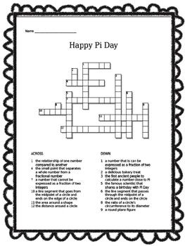 pi word search and crossword puzzles freebie pi day word search