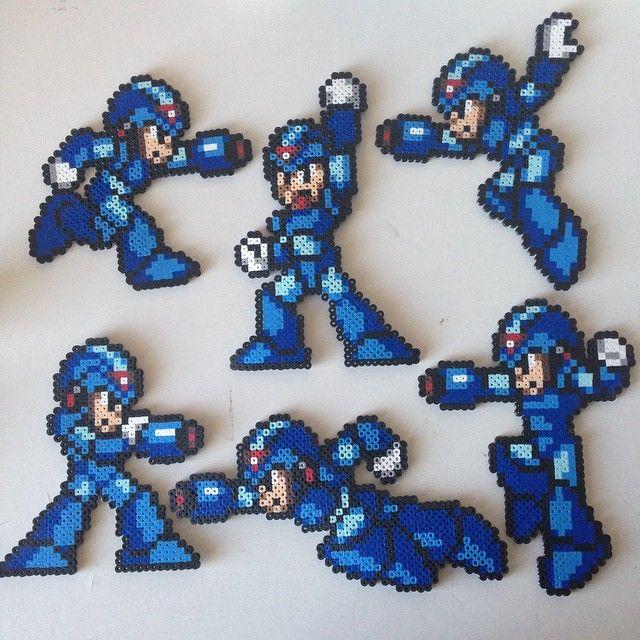 Mega Man X perler bead sprites by jyphlosion