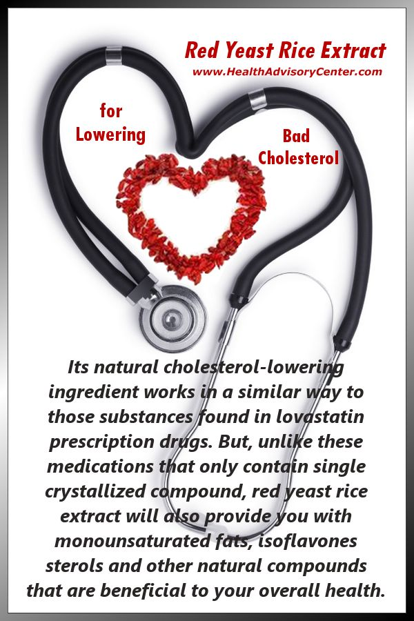 Red Yeast Rice Extract For Lowering Cholesterol Levels - Infographic