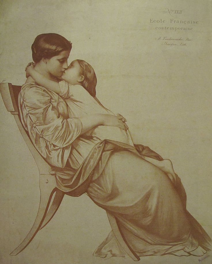 """ARTIST: Charles Bargue ~ """"Mother and Child"""" ~ (Lithograph"""
