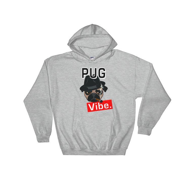 Pug Vibe Hoodie #pugs #dogs #vibe #winter