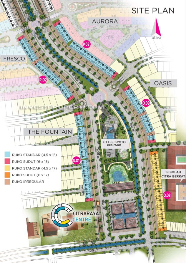 Site Plan Ruko Little Ginza Citra Raya Cikupa