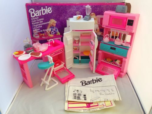 vintage barbie kitchen coin cuisine set boxed with
