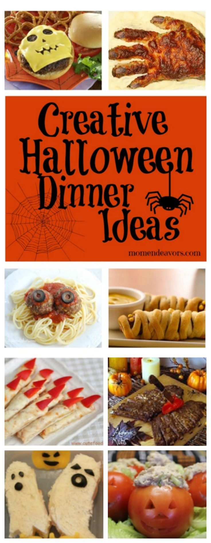25+ spooktacular Halloween dinner ideas & side dishes! via http://momendeavors.com