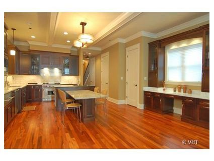Hardwood floors throughout even in the kitchen i don 39 t for Hardwood floors throughout