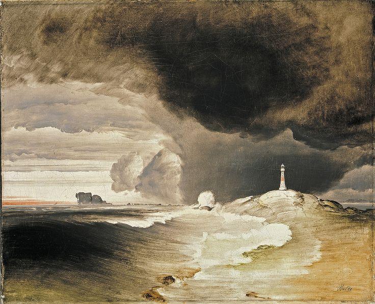 Peder Balke, Fyrtårn på den Norske Kyst (Lighthouse on the Norwegian Coast, ca. 1850)