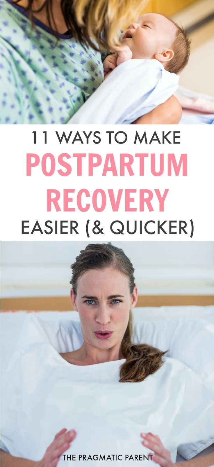 Labor is a grueling process and postpartum recovery can be a real pain. Proper postpartum care is necessary for healing, and ultimately makes your postpartum recovery easier and quicker. 11 ways to make postpartum recovery easier and speedier. // The Pragmatic Parent