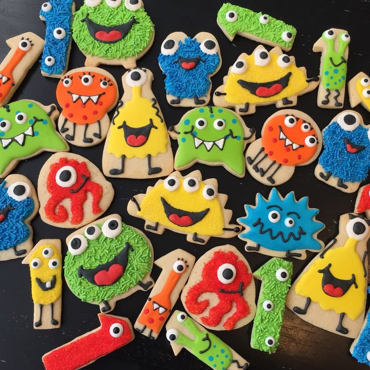 Monster cookies for 1st birthday
