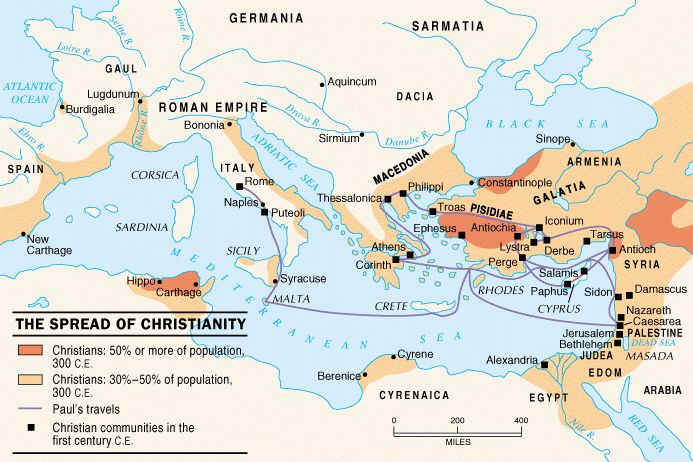 a history of the spread of christianity to europe The history of christianity is the history of the christian religion and the christian church in the middle ages it spread into northern europe and russia but the christian religion continued to spread throughout the mediterranean region.