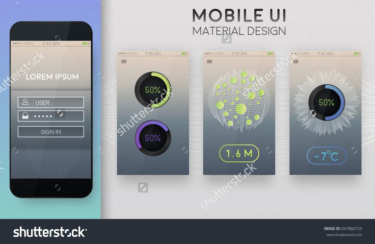 UI mobile app and website template. Data processing.