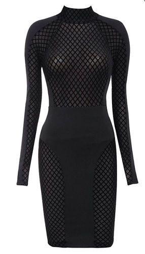 Kara Sheer Long Sleeve Bandage Dress – BWCLOSET