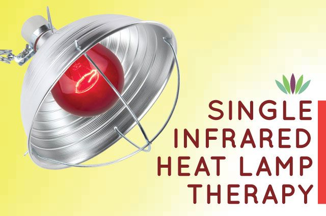 Single Near Infrared Heat Lamps Are A Simple And Inexpensive Yet Incredibly Effective Treatment