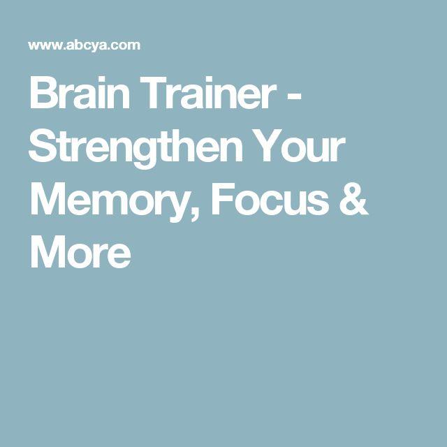 Brain Trainer - Strengthen Your Memory, Focus & More