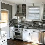 Kitchen-gray subway tile -or gray with white grout. decisions decisons