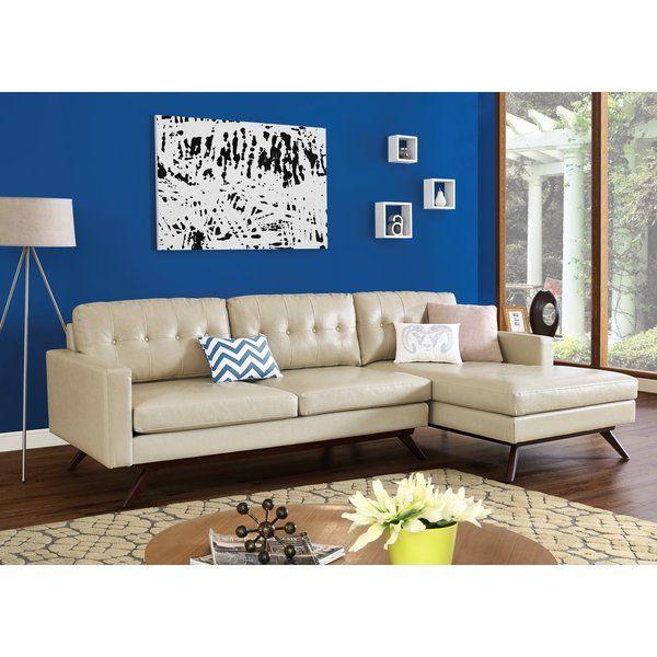 Blake Antique Beige Sectional  sc 1 st  Pinterest : beige sectional with chaise - Sectionals, Sofas & Couches