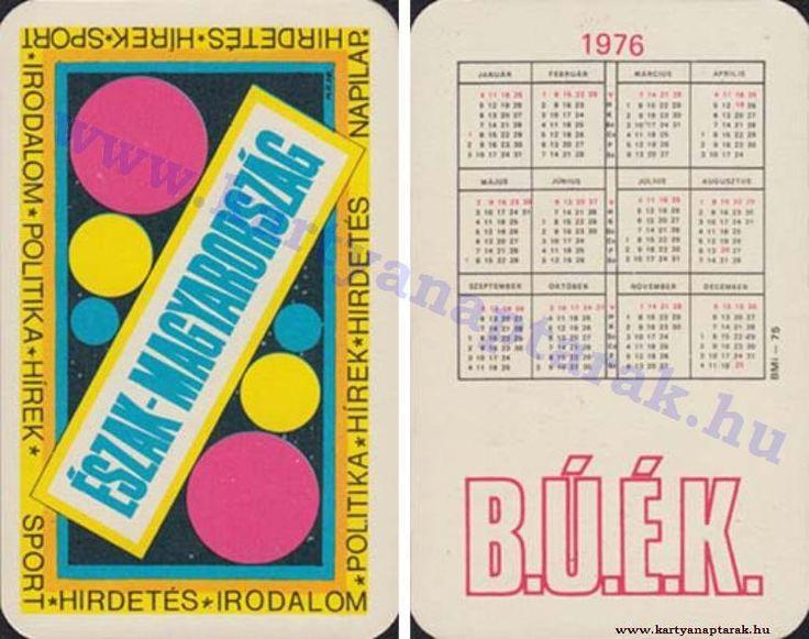 1976 - 1976_0822 - Régi magyar kártyanaptárak