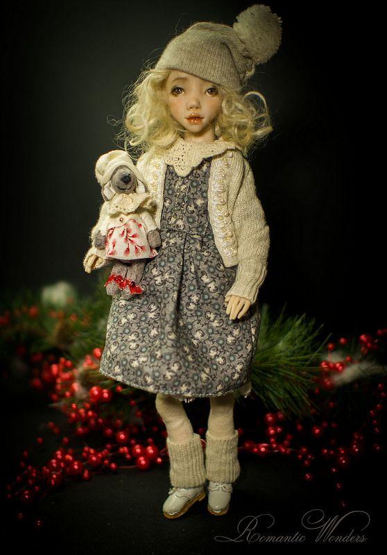 ''Noel''. Handmade polymer clay BJD doll